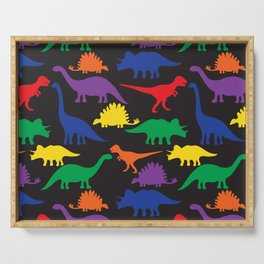 Dinosaurs - Black Serving Tray
