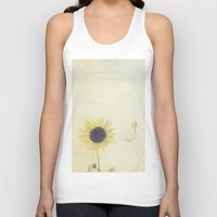 sunflower Tank Tops featuring Sunflower by Pure Nature Photos