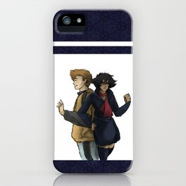 Blue and Hige iPhone Case