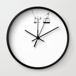 White out Wall Clock