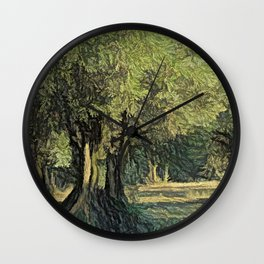 Olives in Provence Wall Clock