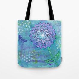 Purple Flower by Deborah Halcomb Tote Bag