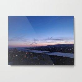Violet Skies over the Yodo River Metal Print