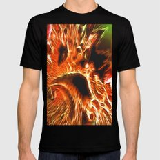 Faces of Hell MEDIUM Black Mens Fitted Tee