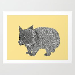 Little Wombat Art Print