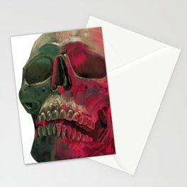Skull Reflet Stationery Cards