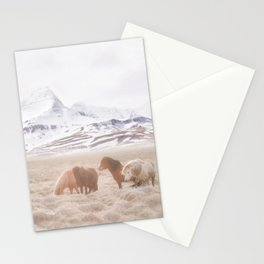 WILD AND FREE 3 - HORSES OF ICELAND Stationery Cards
