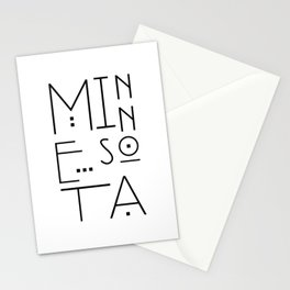 Minnesota Typography Stationery Cards