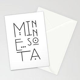 Minnesota Typography Stationery Cards