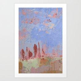 Standing Stone Circle in Pastels Art Print
