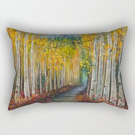 Nelly Creek painting of Uncompahgre National Forest Rectangular Pillow