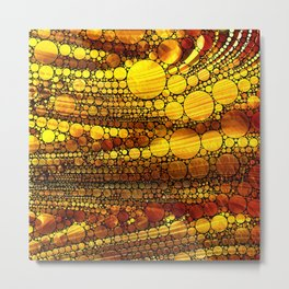 Golden Sun Strata Metal Print