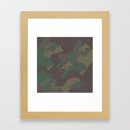Camouflage Year of Horse Framed Art Print