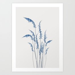 Blue flowers 2 Art Print