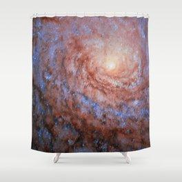 Galactic Sunflower Shower Curtain