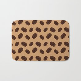 Cool Brown Coffee beans pattern Bath Mat