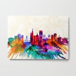 Lagos Skyline Metal Print