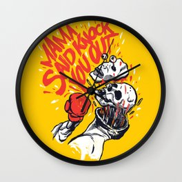 Knockout Punch Wall Clock