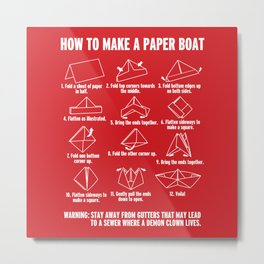 How to make a Paperboat Metal Print