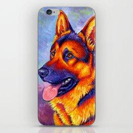 Colorful German Shepherd Dog iPhone Skin