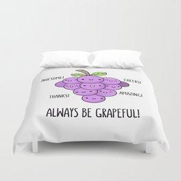 Grapeful Duvet Cover
