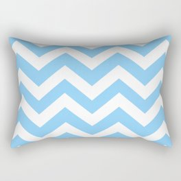Light sky blue - turquoise color - Zigzag Chevron Pattern Rectangular Pillow