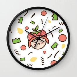 Kawaii Memphis Wall Clock