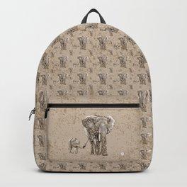 Swirly Elephant Family Backpack