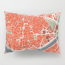 Seville city map classic Pillow Sham