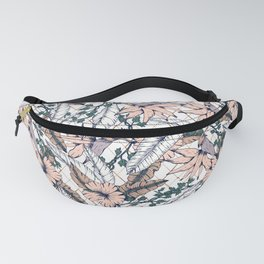Exotic flowering and pattern geometric Fanny Pack