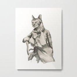 Vintage Cat Metal Print