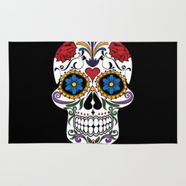 Colorful Sugar Skull Rug