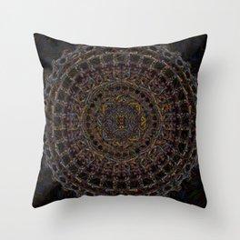psychonaut mandala Throw Pillow