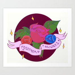 Together always (Ruby/Saphire) Art Print
