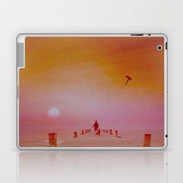 Boy with kite and dog Laptop & iPad Skin