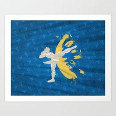 Kickin' It (An Homage To Chun-Li) Art Print