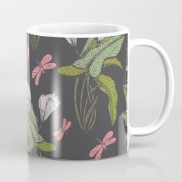 Hand drawn floral dark  - 03 Coffee Mug