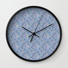 Blue Hydrangea Petals Wall Clock