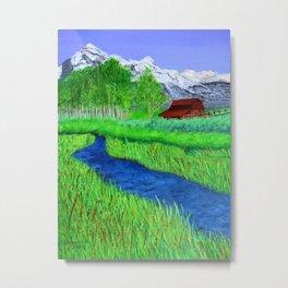 Grand-Teton barn Metal Print