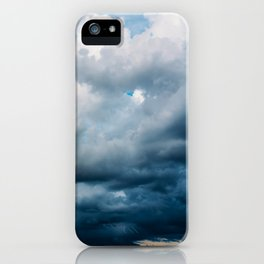 Rain Storm Clouds Gathering On Sky, Stormy Sky, Infinity iPhone Case