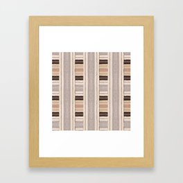 Flat Weavin 3 Framed Art Print