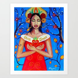 Divine mother. Art Print
