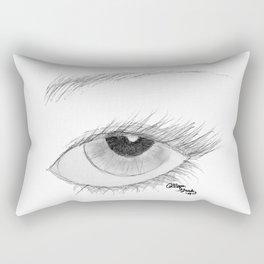 A Vision in Black & White Rectangular Pillow