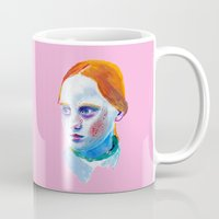 redhead Mugs featuring Redhead Painting by nicky costi