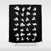 origami Shower Curtains featuring origami by spinL