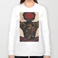 django Long Sleeve T-shirts featuring Django by C.R.ILLUSTRATION