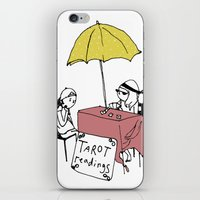 tarot iPhone & iPod Skins featuring Tarot Reader by hannah koslosky