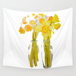 Daffodils watercolor Wall Tapestry