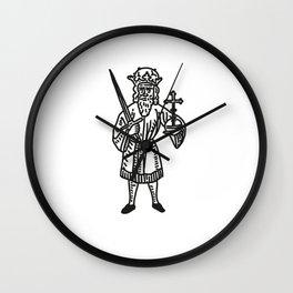 King Priest Cross Tattoo Vintage Wall Clock