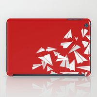 planes iPad Cases featuring Paper Planes by Becky Gibson